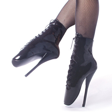 Ballet-1020, 7 Inch Spike Fetish Ballet Boots by Devious