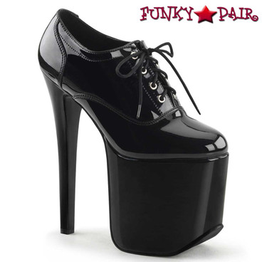 Devious | Tramp-788, 7.25 Inch Fetish Oxford Shoes by Pleaser