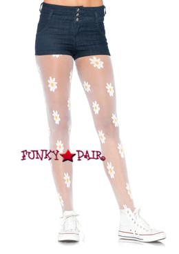 LA7928,  Daisy Print Pantyhose