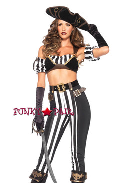 5pc Black Beauty Pirate Costume