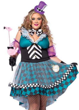 LA85227X, 4PC Manic Mad Hatter Costume