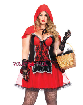 LA85485X, 2PC Curvy Red Riding Hood