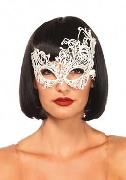 Leg Avenue | LA-3747, Venetian Applique Eye Mask color white
