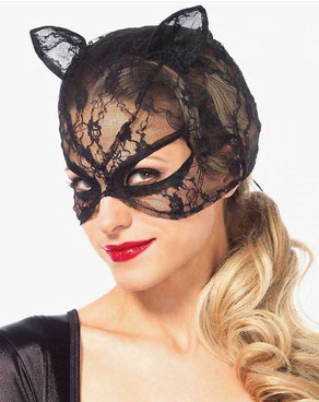 LA3746, Lace Cat Mask by Leg Avenue
