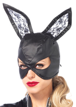 LA3745, Bunny Mask with Lace Ears