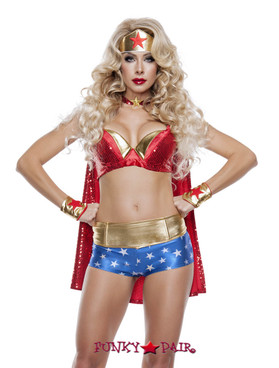 Sexy Wonder Lady Super Hero Costume (S5003)