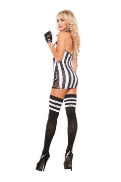 Sexy Halter Referee Costume (S5117)