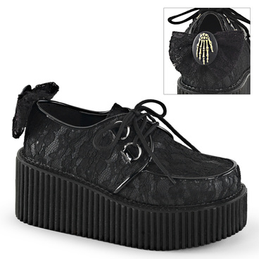 Creeper-212, Platform Lace Creeper Demonia Shoes