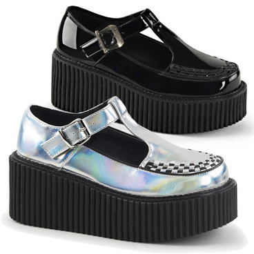 T-strap Platform Creeper Demonia Shoes Creeper-214