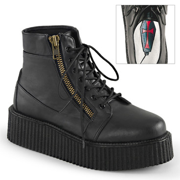 Demonia | Men V-Creeper-571, Platform Creeper Bootie