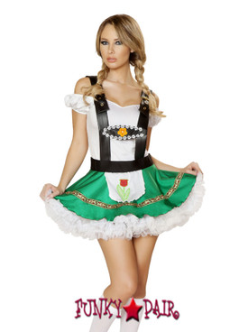 R4536, Sexy Hoffbrau Lady, Sexy Hoffbrau Lady includes top with ruffle sleeves, skirt with apron and suspender detail.