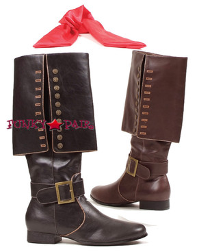 121-Captain, Men Knee High Boots,COSTUME BOOTS