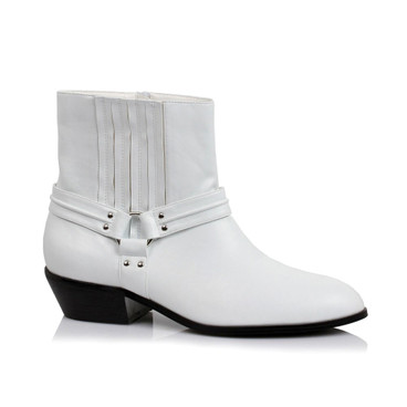 129-Rebel, Men's Ankle Calf Boots,COSTUME BOOTS