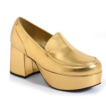 312-Daddio, Men's Gold 3 inch platform Disco shoes