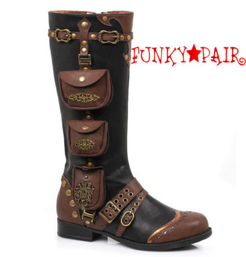 181-SILAS, Women Steampunk Boot | 1031 Shoes Costume Shoes