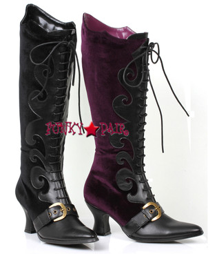 Cosplay Velvet Knee High Boots | 1031  253-Fain