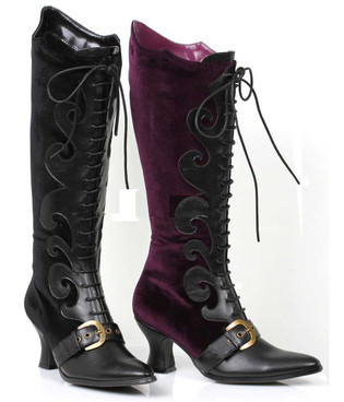 253-Fain, Cosplay Velvet Knee High Boots | 1031 Costume Boots