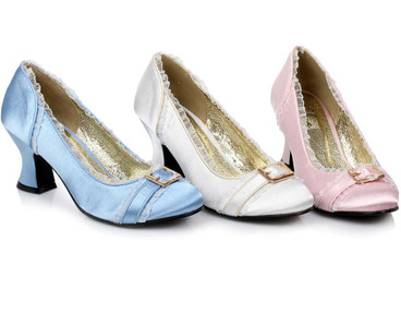 Princess Cosplay Satin Shoes with Buckles | 1031 Costume Shoes 254-Edith