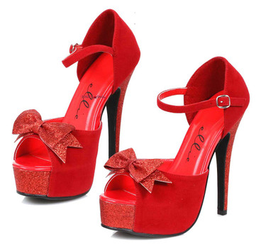 "519-Story, 5"" Red Cosplay Sandal 