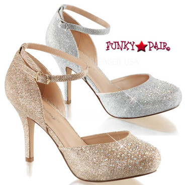 Fabulicious   Covet-03, 3.5 inch Ankle Strap D'orsay Pump