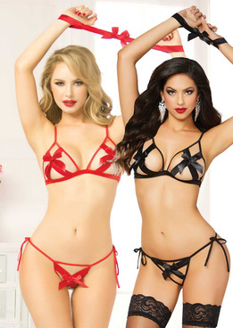 3pc Bow Bra Set (STM-10565)