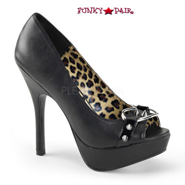Demonia | Pixie-15, Heart Peep Toe Pump