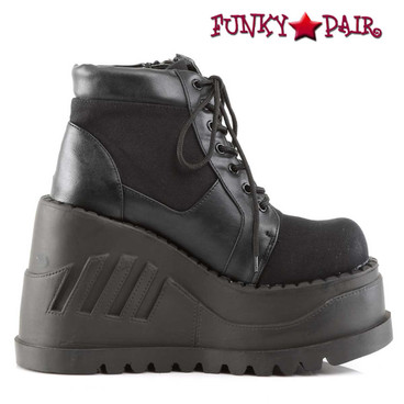 Demonia Stomp-10, Wedge Platform Booties