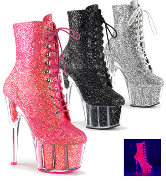 Adore-1020G, Glitter Ankle Boots