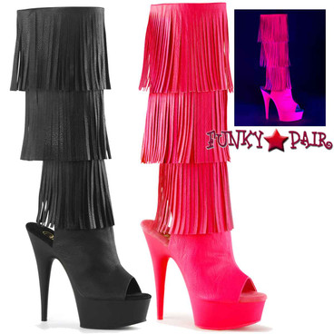 Pleaser | Delight-2019-3 Fringe Knee High