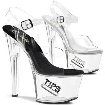 Stripper Shoes | TIP JAR-708-5, Platform Clear Stripper Shoes High Heels