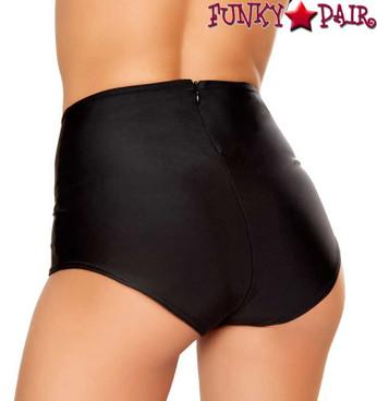 J. Valentine | FF612, Solid High-Waist Short Color Black back view