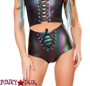 Rave Foil Lace-up Short FF411 Color Ombre Denim
