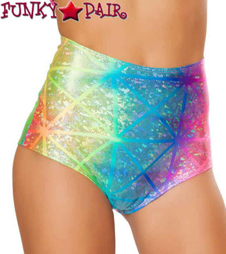 JV-FF610, Rave High Waisted Shorts On Sales $28.95 color Diamond Holo