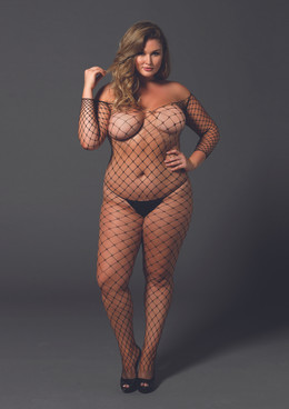 LA89142Q, Fence Net Bodystocking
