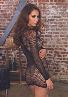 LA81507, Front Lace up Mini Dress