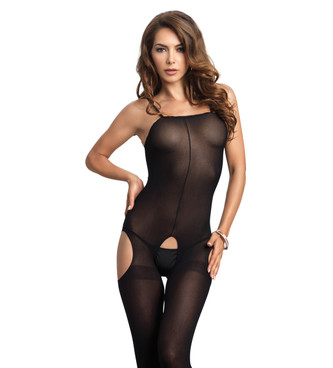LA8195, Opaque Suspender Bodystocking
