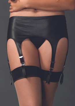 LA2901, Matte Rubber Look Garter Belt