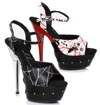 "609-Saige 6"" Exotic Dancer Platform with Lights"