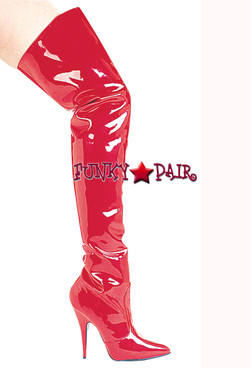 "E-Susie 5"" Red Thigh High Boots by Ellie Shoes"