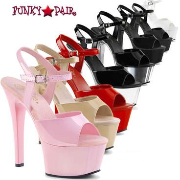 Pleaser   Aspire-609, 6 Inch Vegan Ankle Strap Sandal