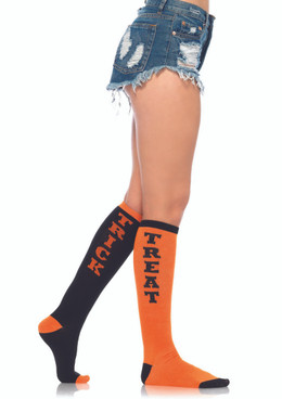 LA5607, Trick or Treat Knee Socks