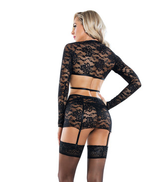 SL6054, Harness Top and Skirt Set