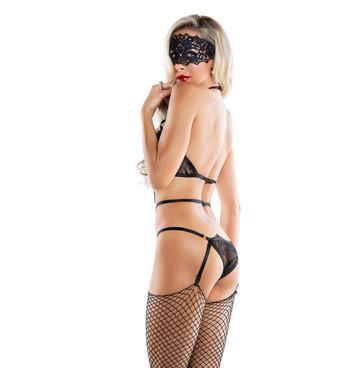 SL6048, Midnight Mistress Playsuit