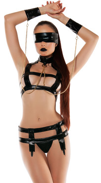 SL5016, Faux Leather Bondage Set