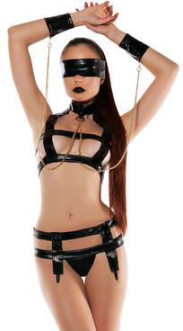 SL5016, Faux Leather Bondage Set