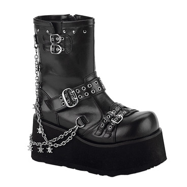 Demonia Boots CLASH-430, Goth Platform Boots with Chain