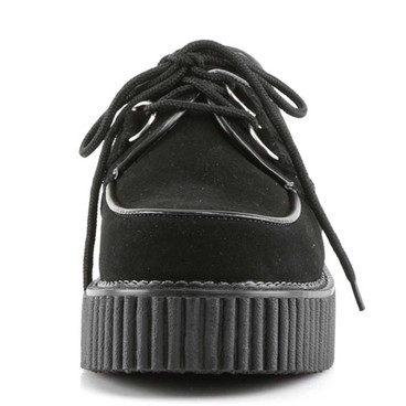 Demonia | Creeper-101 Women Black Suede Creeper Shoes