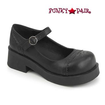Demonia Shoes CRUX-07, Goth Punk Mary Jane Shoes