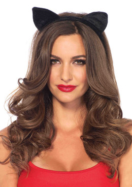 A2783, Velvet Black Cat Ears
