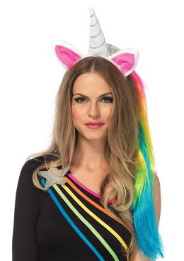 A2781, Unicorn Headbandwith Wig Mane